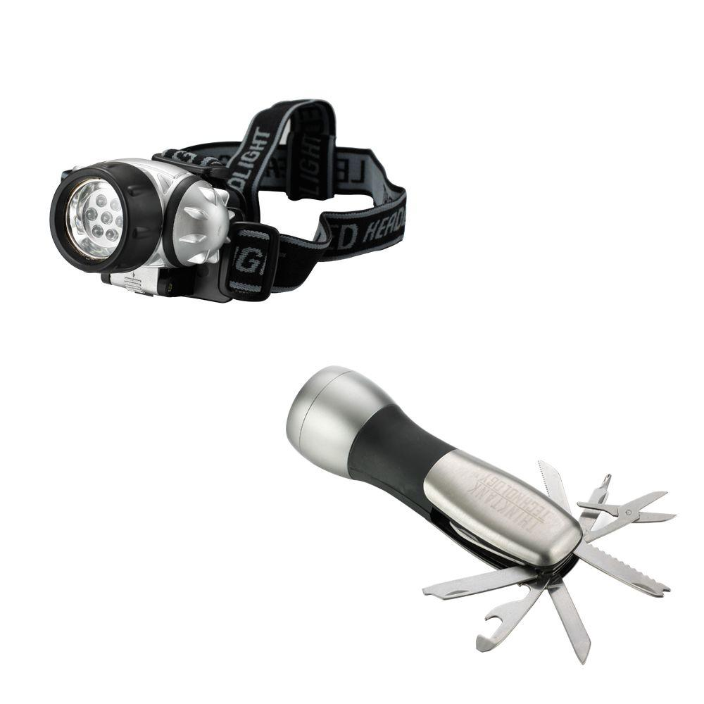 Think Tank LED Flashlight Survival 2-Pack