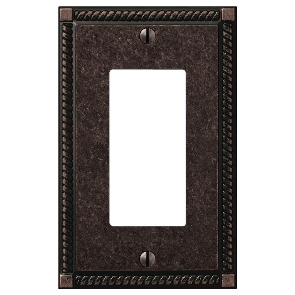 Georgian 1 Decora Wall Plate in Aged Bronze Cast (2-Pack)