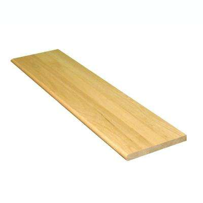 1 in. x 10.5 in. x 36 in. Prefinished Natural Red Oak Tread