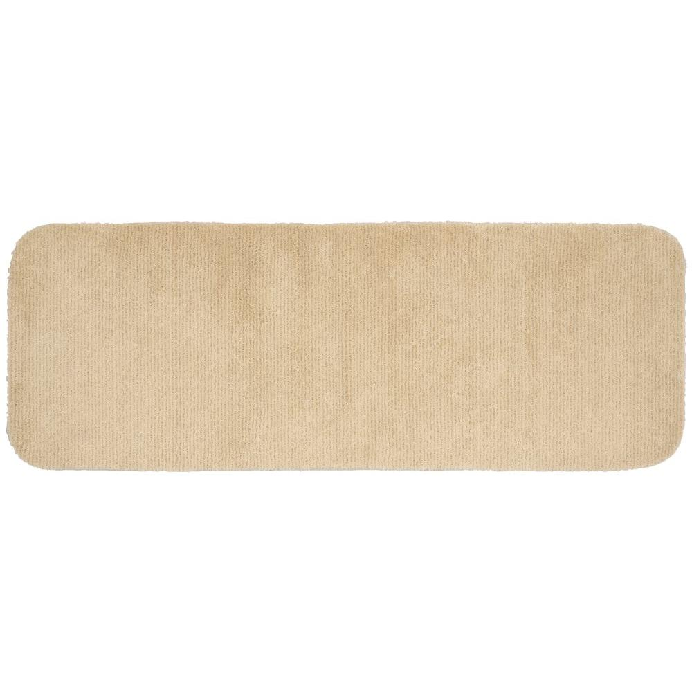 Glamor Linen 22 in. x 60 in. Washable Bathroom Accent Rug