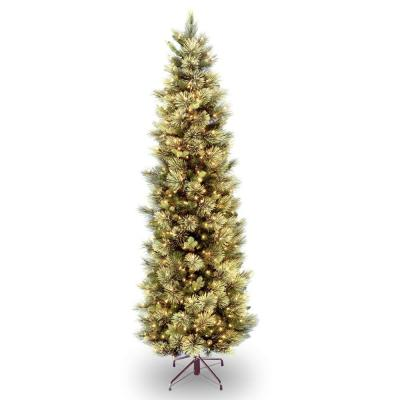7.5 ft. Carolina Pine Slim Tree with Clear Lights