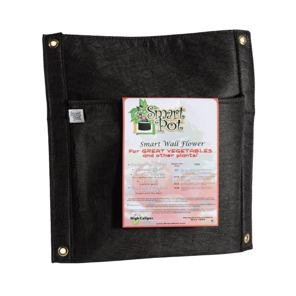 Smart Pot Smart Wall Flower Black Fabric Vertical Planter