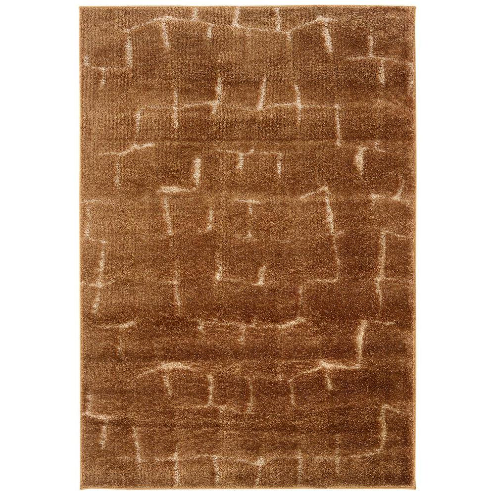 LR Resources Labyrinth Tobacco 7 ft. 10 in. x 11 ft. 2 in. Plush Indoor Area Rug
