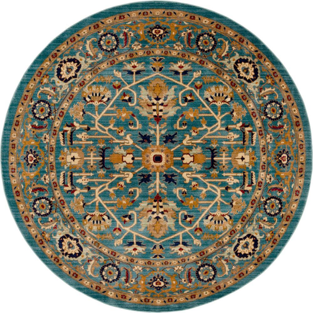 Unique Loom Turquoise 8' 0 X 8' 0 Graham Rug-3144409