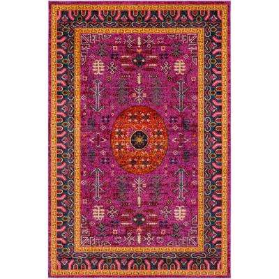 Anika Bright Pink 2 ft. x 3 ft. Indoor Area Rug