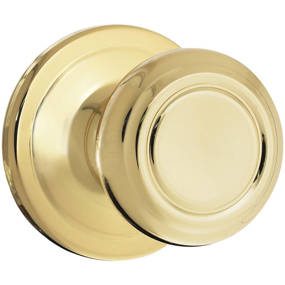 Kwikset Cameron Polished Brass Hall/Closet Knob