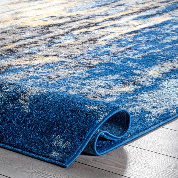 Nuloom Katharina Modern Abstract Blue 12 Ft X 18 Ft Area Rug Rzbd04a 12018 The Home Depot