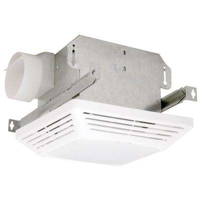 Advantage White 70 CFM 4.0 Sone Single Speed Ceiling Exhaust Fan with Light