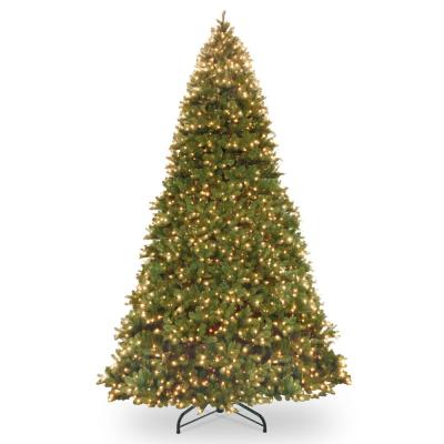 14 ft. Feel Real Downswept Douglas Fir Hinged Artificial Christmas Tree with 1600 Dual Color LED Lights