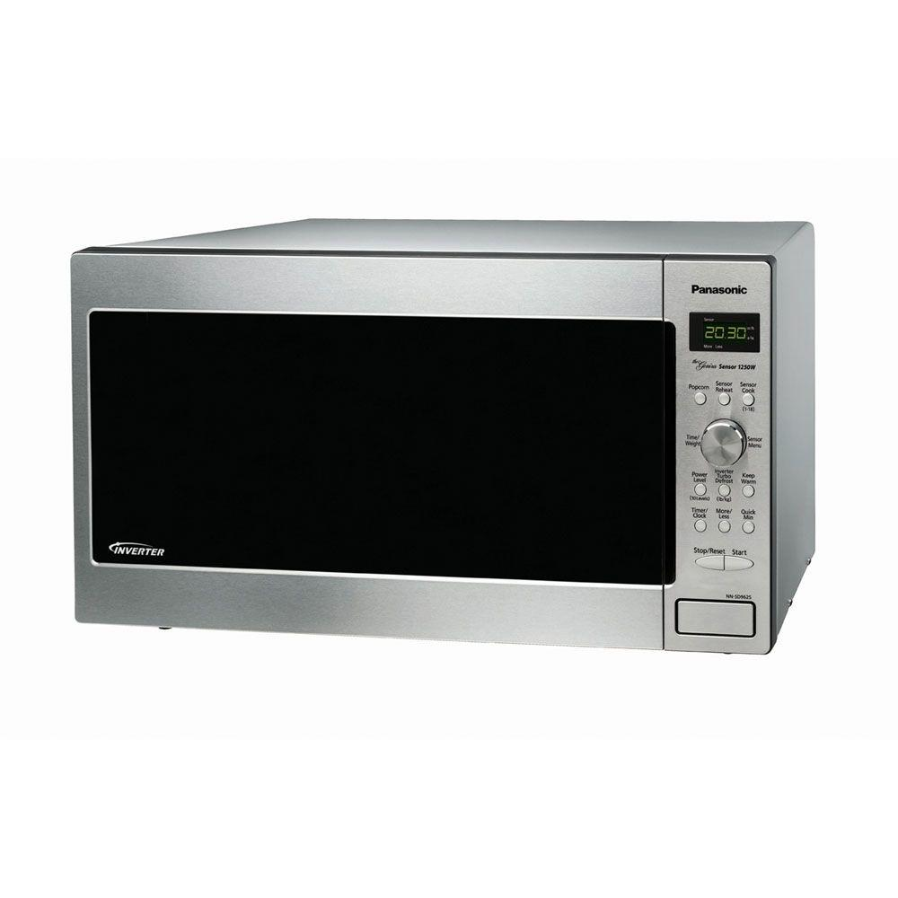 Panasonic Family Size 1.6 cu. ft. Countertop Microwave in Stainless Steel with Sensor Cooking