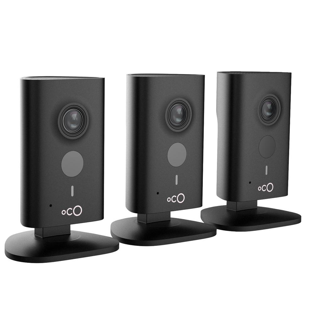 Oco HD 960p Indoor Video Surveillance Security Camera with SD Card, Cloud Storage, 2-Way Audio and Remote Viewing (3-Pack), Black was $248.88 now $139.0 (44.0% off)