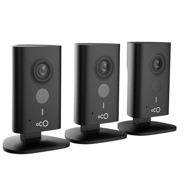 Oco HD 960p Indoor Video Surveillance Security Camera with SD Card, Cloud Storage, 2-Way Audio and Remote Viewing (3-Pack)