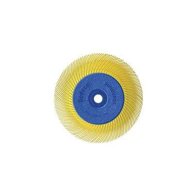 Sunburst - 6 in. TC Radial Discs - 1/2 in. Arbor - Thermoplastic Cleaning and Polishing Tool, Coarse 80-Grit (1-Pack)