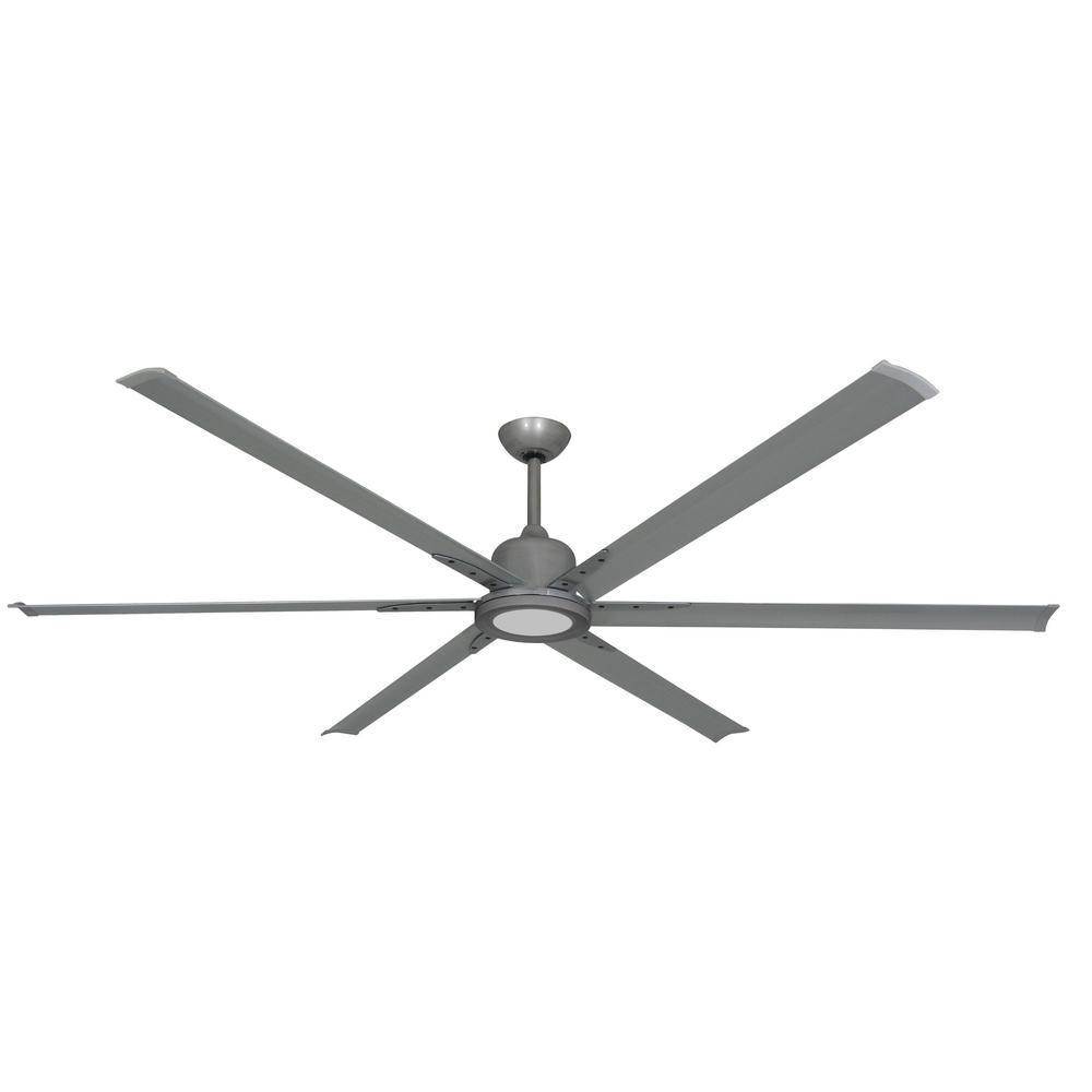 TroposAir Titan II 84 in. LED Indoor/Outdoor Brushed Nickel Ceiling Fan with Remote Control