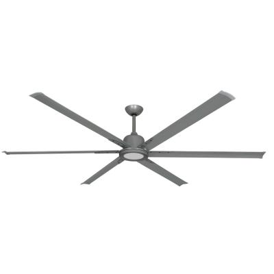 Titan II 84 in. LED Indoor/Outdoor Brushed Nickel Ceiling Fan with Remote Control