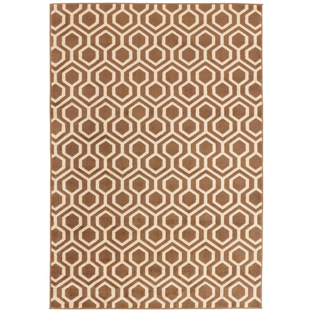 Langley Geo Brown 1 ft. 10 in. x 3 ft. Accent