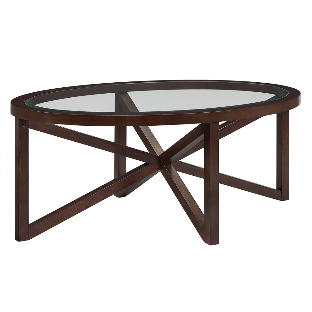 7ae8b00dca Trinity Espresso Glass Top Table Set. by Picket House Furnishings