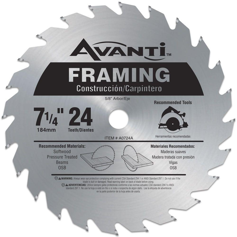 Avanti 7 14 in x 24 teeth framing saw blade a0724a the home depot avanti 7 14 in x 24 teeth framing saw blade greentooth Image collections