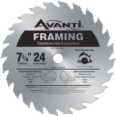 7-1/4 in. x 24-Teeth Framing Saw Blade