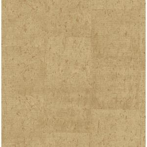 Jules Light Brown Faux Cork Wallpaper