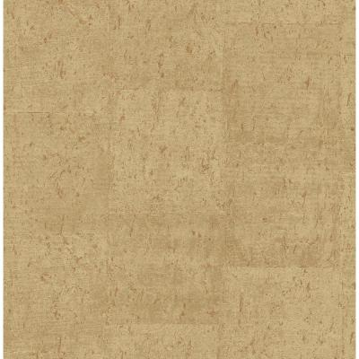 Jules Light Brown Faux Cork Wallpaper Sample