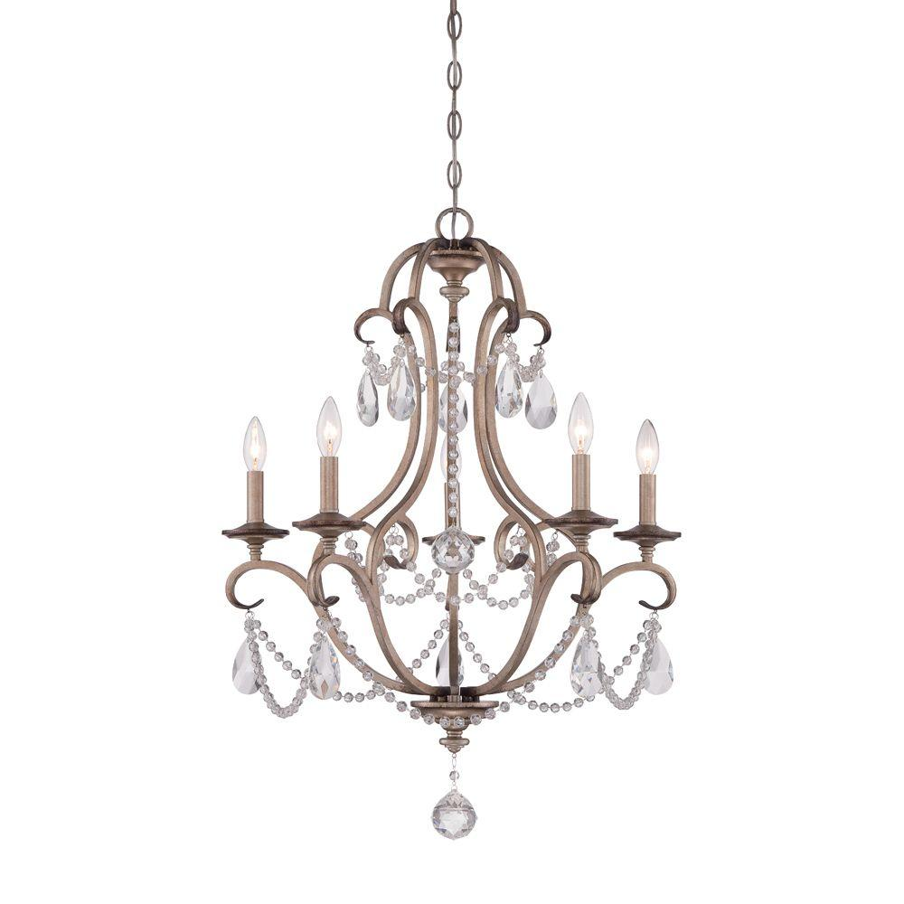 Designers Fountain Gala 5 Light Argent Silver Interior Incandescent Chandelier Wiring Harness