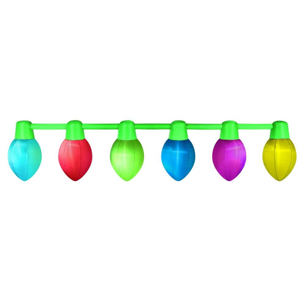 Christmas Bulbs.Airflowz 9 Ft Hanging Light Parade Inflatable Christmas Bulbs
