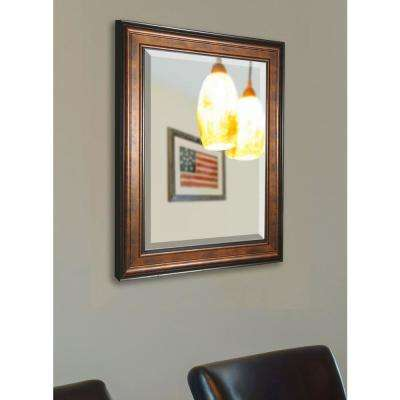 26.75 in. x 38.75 in. Bronze and Black Rounded Beveled Wall Mirror
