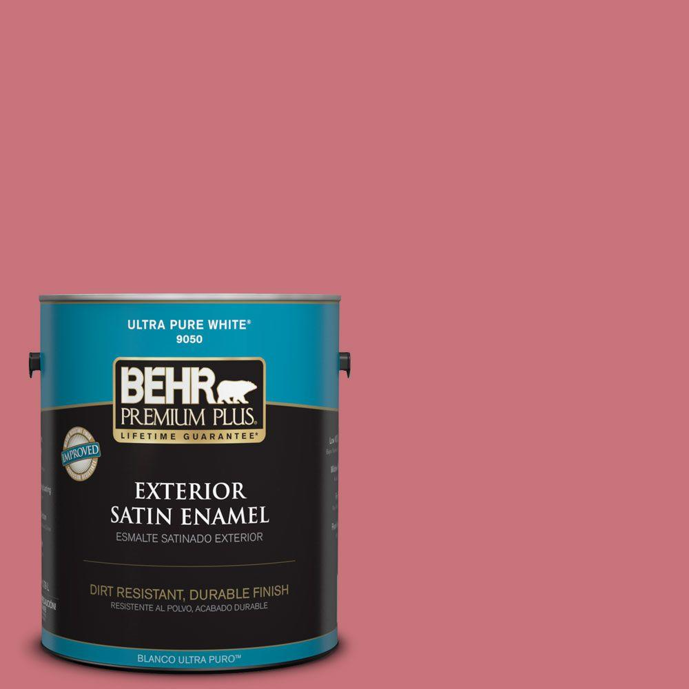 BEHR Premium Plus 1-gal. #140D-5 Rose Chintz Satin Enamel Exterior Paint