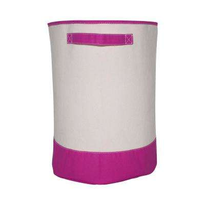 Pink Fabric Hamper Storage