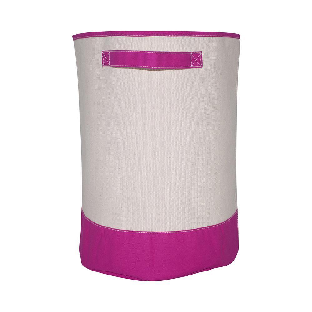 Pink Fabric Hamper Storage