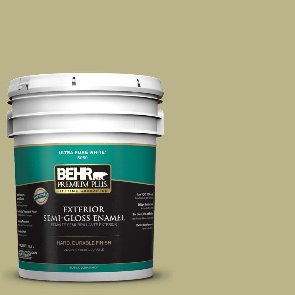 BEHR Premium Plus 5-gal. #ICC-68 Minced Ginger Semi-Gloss Enamel Exterior Paint
