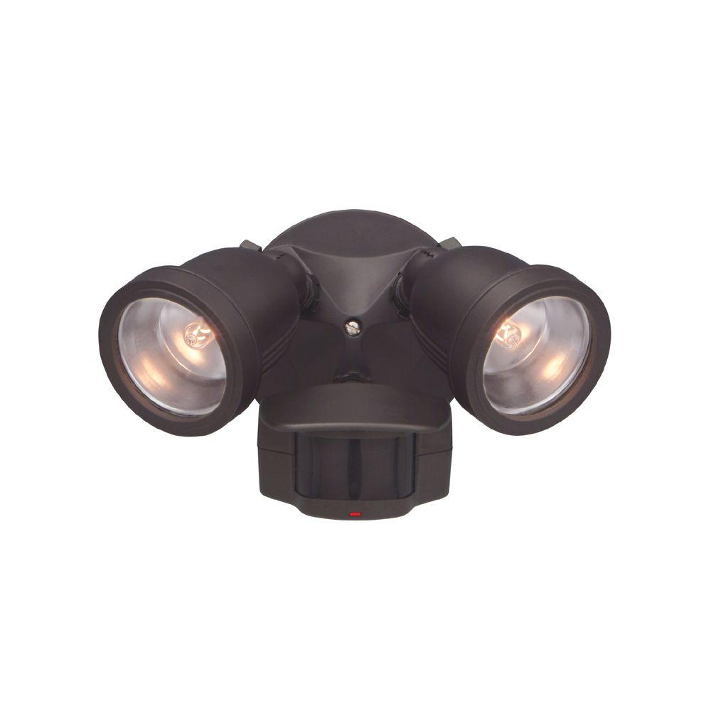Outdoor Security Lights With Alarm: Designers Fountain Area And Security 2-Light Distressed