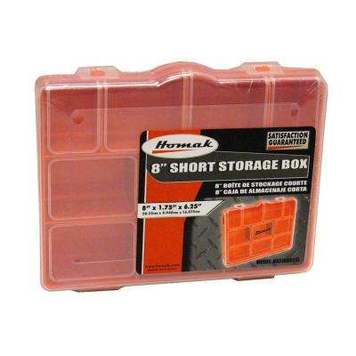 13-Compartment Non Stackable Storage Box Orange Small Parts Organizer