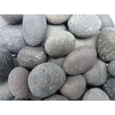 1 in. to 2 in. Black Mexican Beach Pebble (500 lb. Mini Sack)