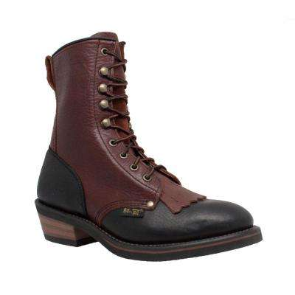 Women's Medium 10 Black/Dark Cherry Full-Grain Tumbled Leather Packer Boot
