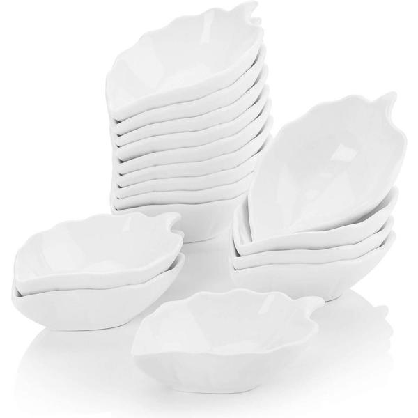 4.5 in. White Porcelain Ramekins Souffle Dishes Serving Bowls (Set of 16)