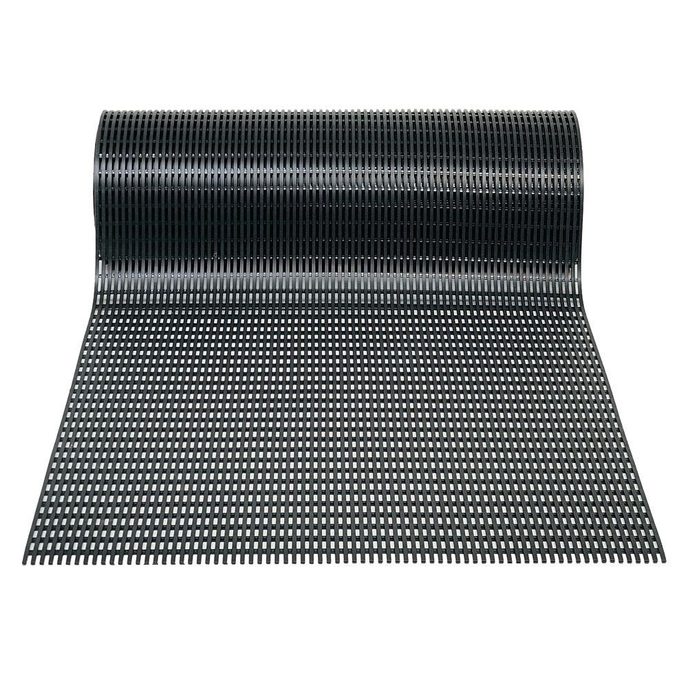 Airpath Black 2 ft. x 30 ft. PVC Anti-Fatigue and Safety