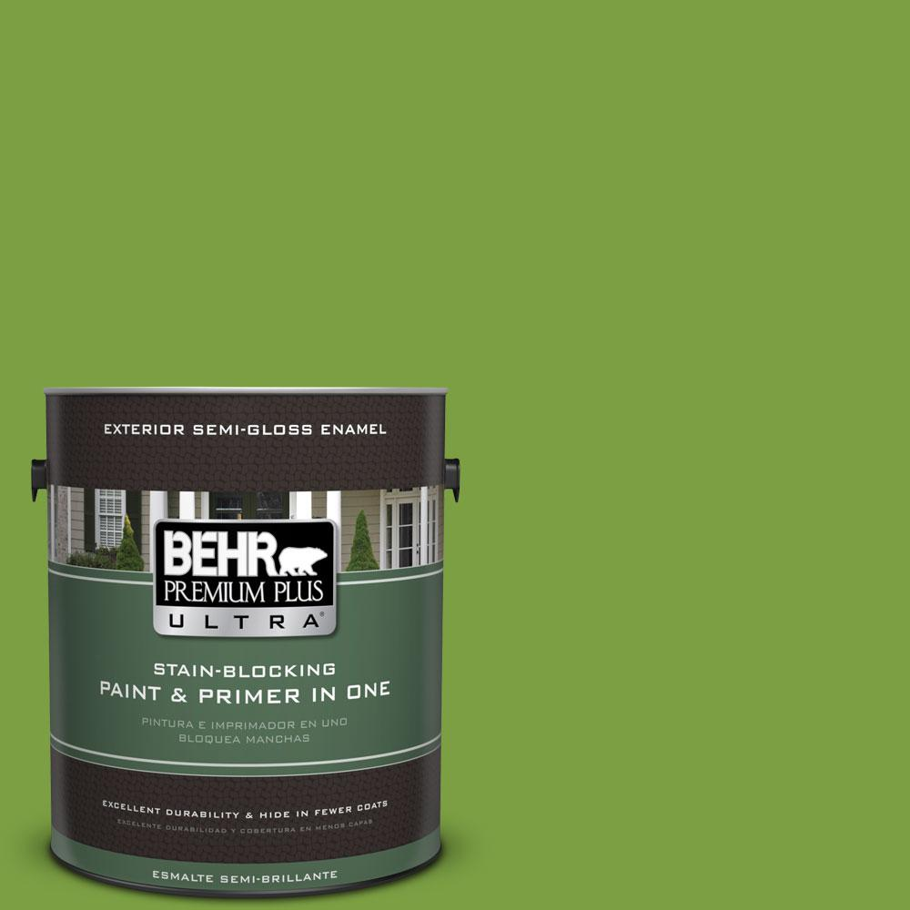 1-gal. #420B-7 Pepper Grass Semi-Gloss Enamel Exterior Paint