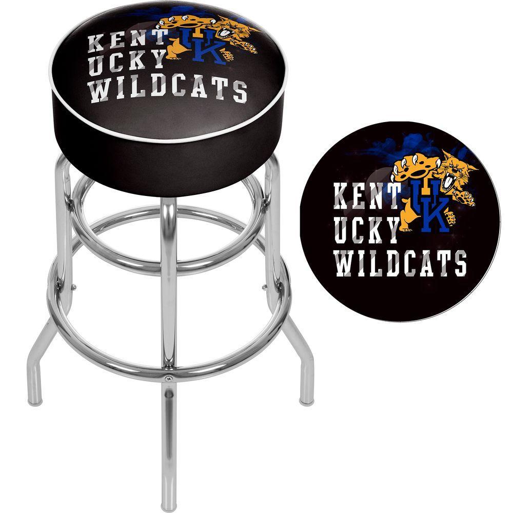 Honeycomb Trademark Gameroom University of Kentucky Wildcats Chrome Bar Stool with Swivel