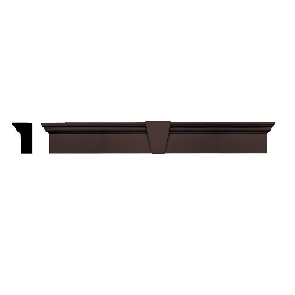 Builders edge 3 3 4 in x 9 in x 73 5 8 in composite for Exterior keystone molding