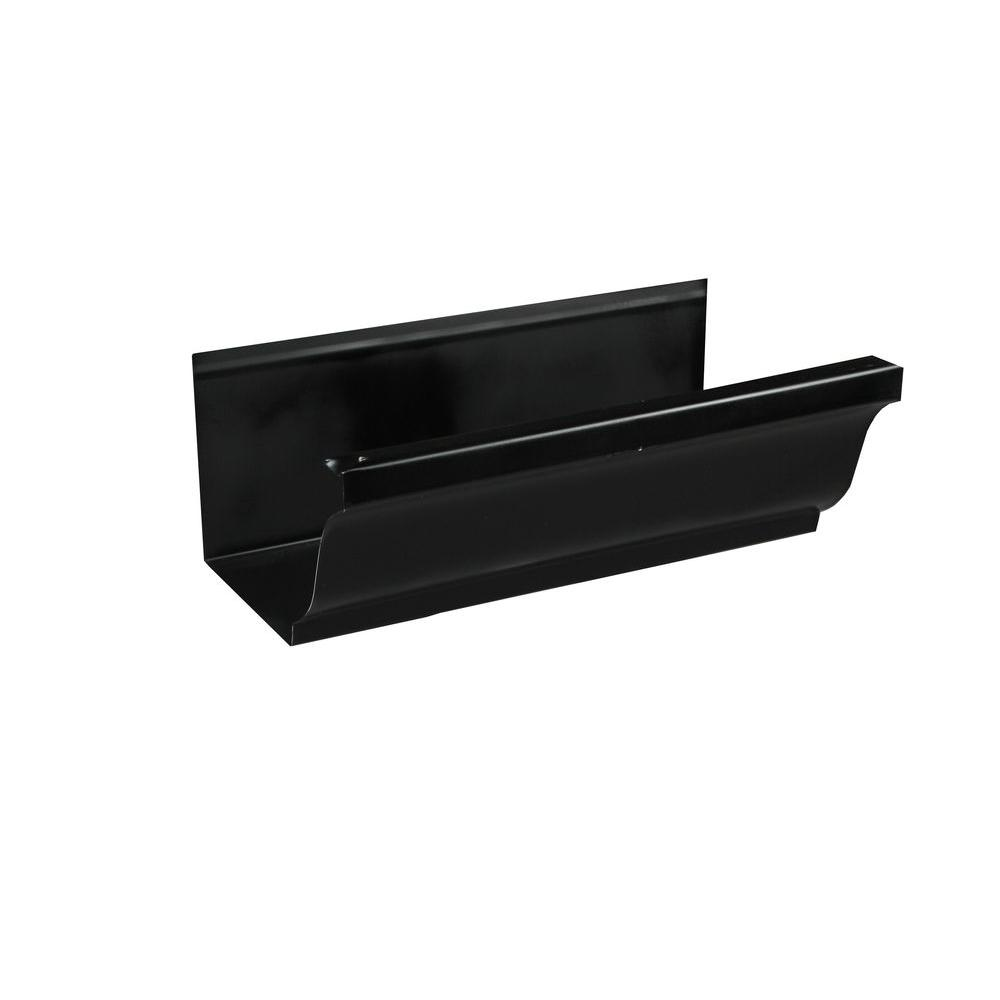 5 in. x 8 ft. K-Style Black Aluminum Gutter
