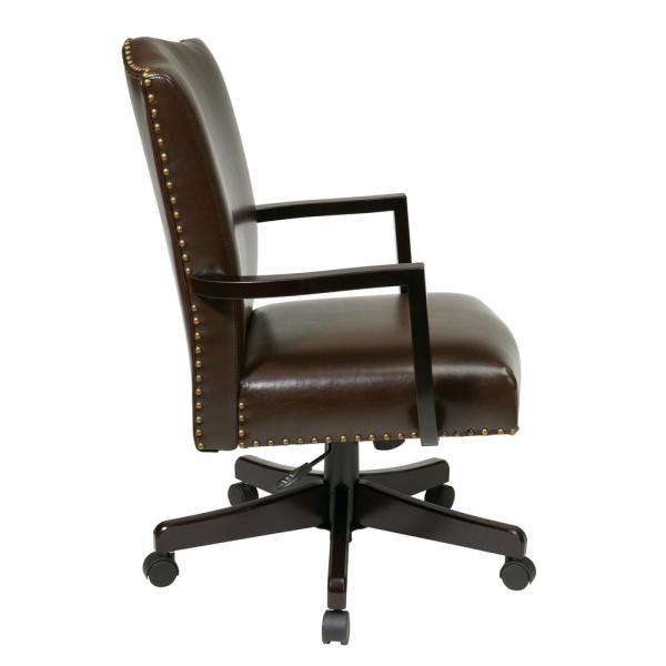 undefined Morgan Espresso Managers Chair  sc 1 st  Home Depot & Morgan Espresso Managers Chair BP-MGTC-EC1 - The Home Depot