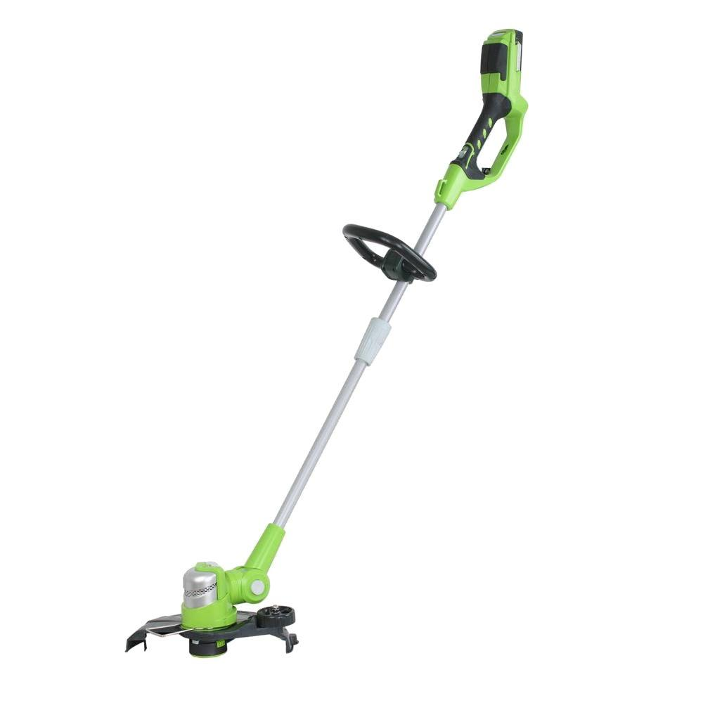 Green Works 24-Volt Lithium-ion Shaft Cordless Electric String Trimmer and Edger-DISCONTINUED