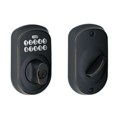 Plymouth Aged Bronze Keypad Electronic Door Lock Deadbolt