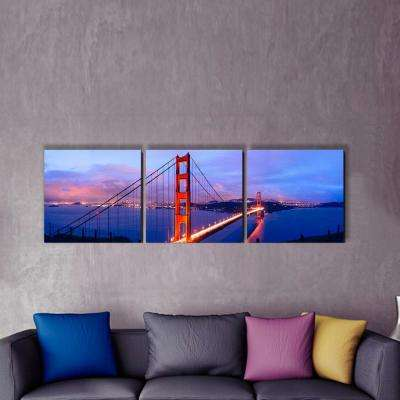 """20 in. x 60 in. """"Golden Gate"""" Printed Canvas Wall Art"""