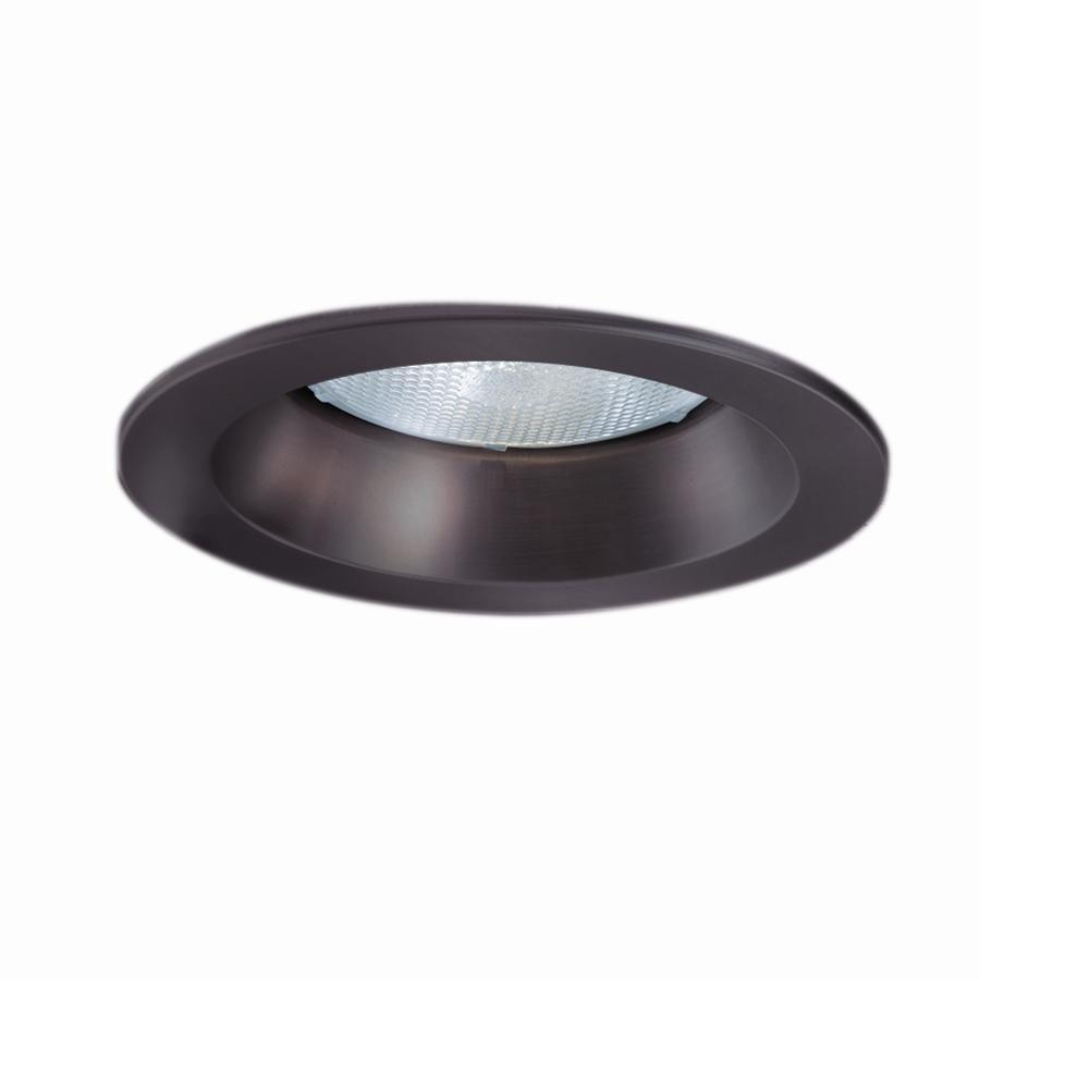 Tuscan Bronze Recessed Ceiling Light Trim With Open Splay