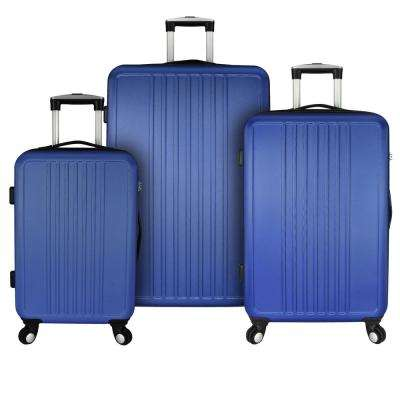 Versatile 3-Piece Hardside Spinner Luggage Set, Blue