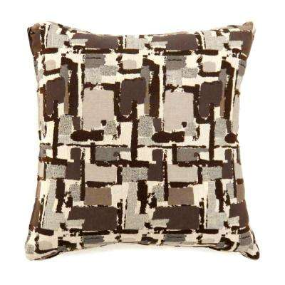Concrit 18 in. Contemporary Throw Pillow in Brown (Pack of 2)