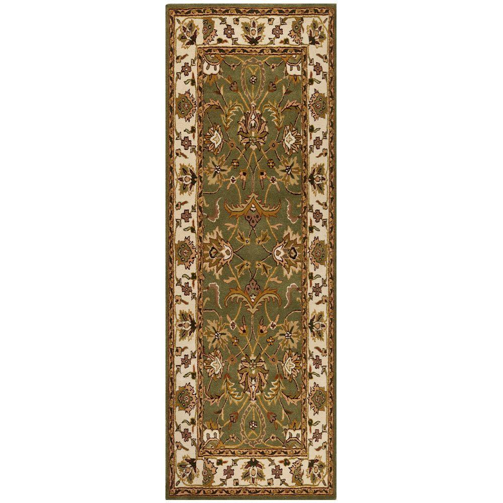 Home Decorators Collection Constantine Sage 2 Ft X 10 Ft Runner Rug 3151952610 The Home Depot